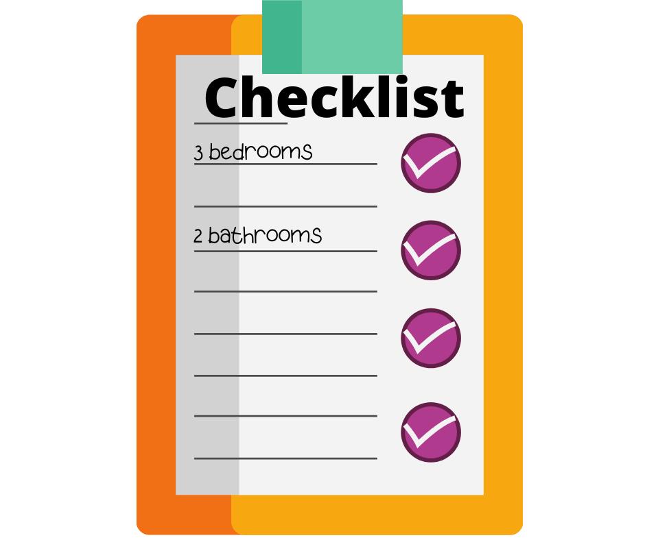 3 bedroom 2 bath checklist