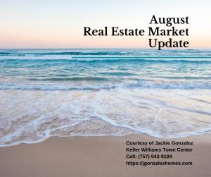 August Real Estate Market Update Virginia Beach Jackie Gonzalez