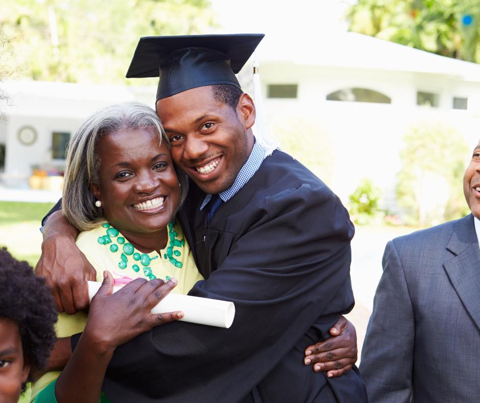 graduation with parents